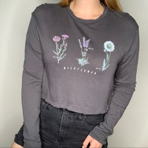 UO Urban Outfitters Wild Flowers Embroidered Top